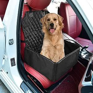 Jioudi Hunde Autositz Auto Hundesitz Rückbank Für Kleine Bis Mittlere Hund Mit Hundesicherheitsgurt Autositzbezug Wasserdicht Reißfest Mit Aufbewahrungstasche Hundedecke Für Haustier Reise Auto