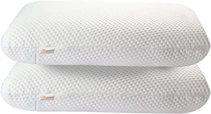 "Magasin Pristine Hues 2 Piece Memory Foam Pillow - 17"" x 27"", White"