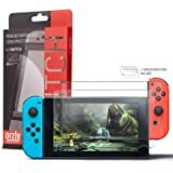Displayschutzfolie für das Nintendo Switch – Orzly Premium Glassschutzfolien [0.24mm] - DOPPELPACK - für das 6.2 Zoll Tablet Display der Nintendo Switch Konsole