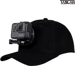 TASLAR Cap-Clip Baseball Hat Clamp Mount Clip for GoPro Hero 2/3/3+/4/6/5 Session, Xiaomi Yi4K (Black)