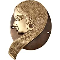 Two Moustaches Tribal Lady Design Brass Door Knocker