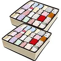 BelleStyle Organisateur de Tiroir, Organisateur de Tiroir Pliable Non-tissé Boîte de Rangement pour Chaussettes Cravates…