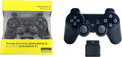 Pacificdeals Analog Controller For Playstation 2 Wireless 2.4G Controller - Black