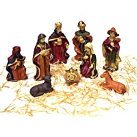 Asian Hobby Crafts Three Kings Gifts Real Life Nativity Set 9 Pcs : Box Size 8.5 X7.5 Inches