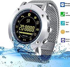 HTSmart fitness tracker Bluetooth Activity Tracker impermeabile Smart Watch con pedometro calorie Counter sano fitness Wristband per bambini donne (argento)