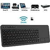 TedGem Wireless Tastatur, Touch Tastatur 2.4G USB Tastatur Wireless Keyboard PC Tastatur USB mit Nano USB Receiver für…