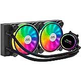Mars Gaming ML240, Refroidissement Liquide, TDP 400 W, Ventilateur Dual ARGB, Noir