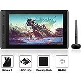 HUION KAMVAS Pro 16 Tableta Gráfica con Pantalla IPS de 15.6 Pulgadas con Laminado Completo Tableta Gráfica Monitor, 6 Teclas