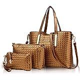 NICOLE & DORIS Bolso de mano para mujer, de moda, 3 piezas, bolsa de gran capacidad, bolsa de mano, bolsa de mano, simple de