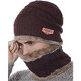 VT VIRTUE TRADERS Ultra Soft Unisex Woolen Beanie Cap Plus Muffler Scarf Set for Men Women Girl Boy - Warm, Snow Proof - 20 D