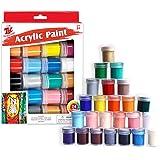 TBC The Best Crafts Juego de pintura acrílica creativa, 24 colores básicos con botellas (15 ml/5 onzas), pigmentos ricos, no