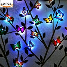 Pink Kites Home Decoration Led Night Lamp with Beautiful Butterfly (Pack of10)