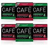 Viaggio Espresso Cápsulas de café compatibles con máquinas Nespresso Selección de orígenes (60 Cápsulas)