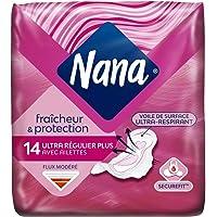 Nana Ultra Normal Plus - Serviette hygiénique avec ailettes, 14 serviettes
