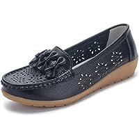 SMajong Donna Mocassini Scarpe di Guida Comfort Scarpe Pelle Classico Loafers