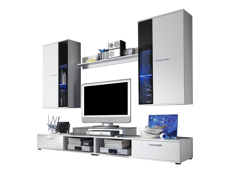 Trendteam SA95302 Wohnzimmerschrank Wohnwand Anbauwand Weiss 230x185x40 Cm Amazonde Kche Haushalt