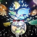 Proiettore Bambini Luce Notturna LED Musica Baby Stelle Lampada con 360° Rotazione Musicale Proiettore Lampada, Halloween, Re