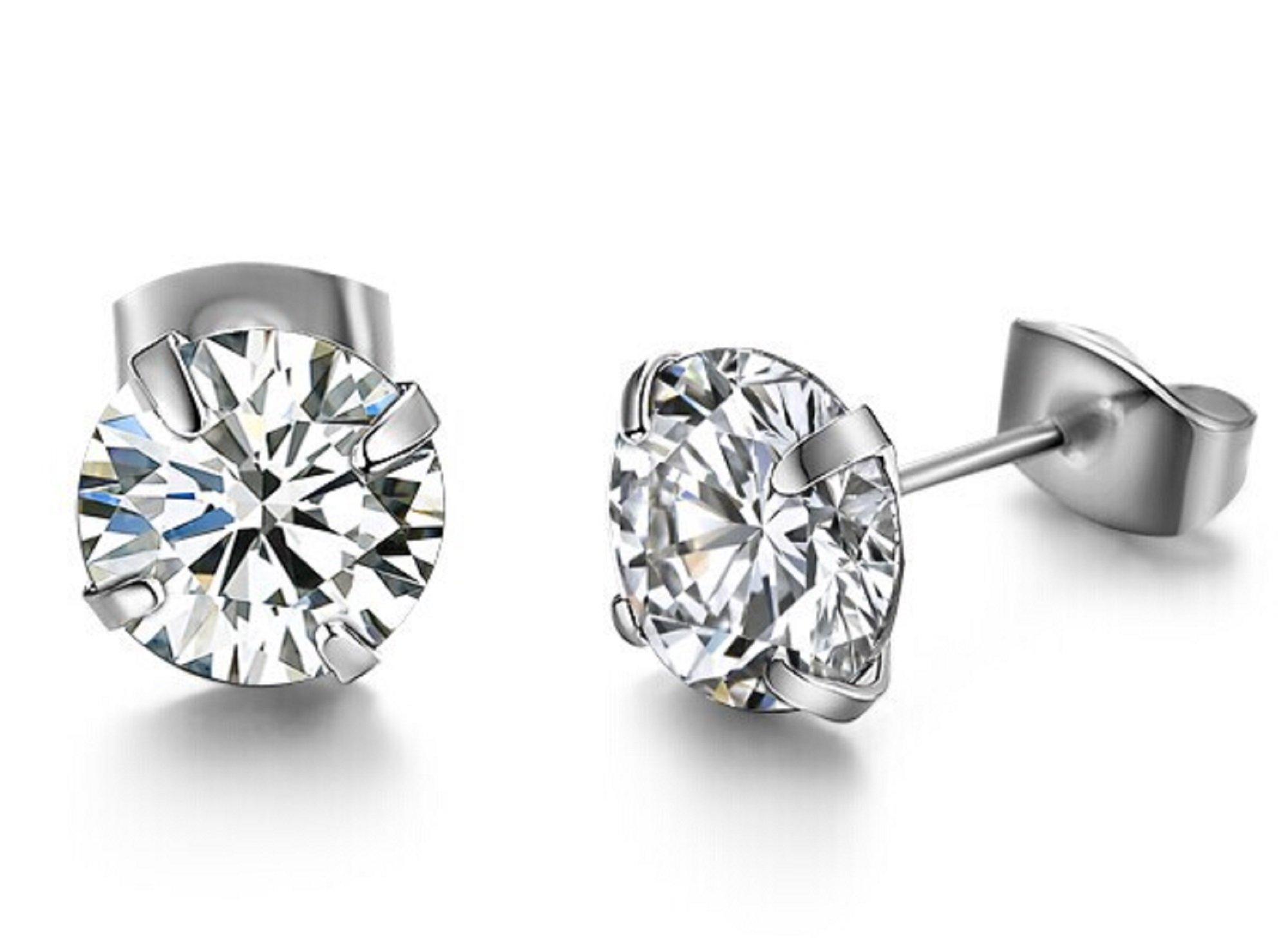 Cristallo zircone orecchini gioielli da sposa cristallo orecchini in argento Sterling orecchini di c