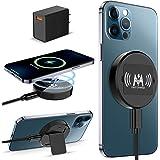 KKM Chargeur sans Fil Magnétique, 15W Chargeur Induction Compatible avec Magsafe Chargeur pour iPhone 12/12 mini/12 Pro/12 Pr