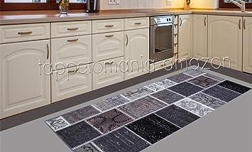 Tappeto cucina moderno nero, passatoia cucina economica ...