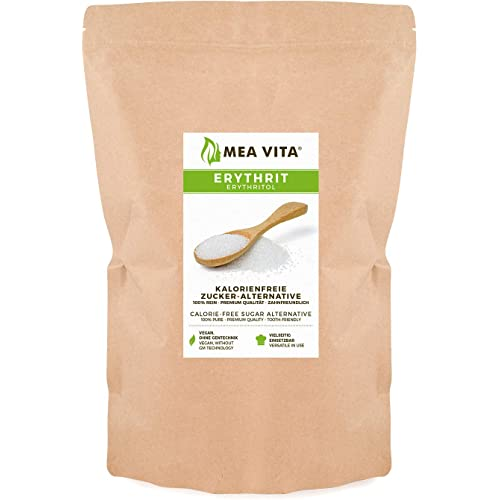 MeaVita Meavita Erythritol Alternativa di Zucchero senza Calorie, 1 Confezione (1X 1000 G) in Busta - 1000 g