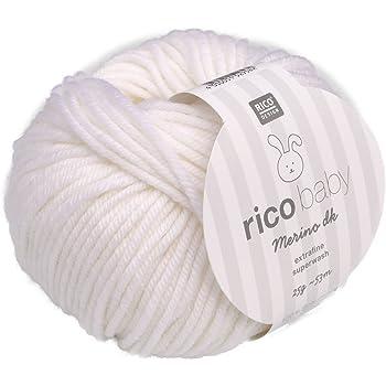 Rico Baby Merino Dk 001 Weiß Babywolle Merinowolle Extrafine