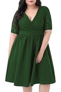 Yours Clothing Women/'s Plus Size Rose Drape Pocket Dress