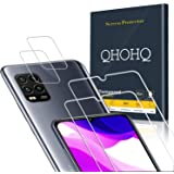 QHOHQ 2 Piezas Protector de Pantalla para Xiaomi Mi 10 Lite 5G (No es para Mi Note 10 Lite) con 2 Piezas Protector de Lente d