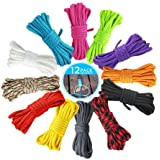 NETUME Paracord Armband Touw, 12 Kleuren 7 Strengen Parachute Cord/Survival Cord voor DIY Ambachten Riemen, Gekleurd Touw voo