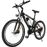 ANCHEER Elcykel, E-cykel Citybike vuxencykel med 250 W motor 36 V 8 AH/12,5 AH avtagbart litiumbatteri Shimano 21 hastighetsv