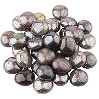 Elettra Decorative Glossy Shiny Round Glass Stone Pebbles for Aquarium Plant Pots Vase Filler Home Table Decor & Garden…