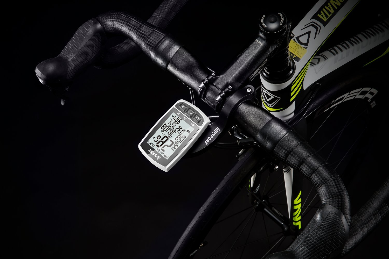 iGPSPORT GPS Bike Computer iGS50E Wireless Cycle Computer Waterproof Compatible Speed Cadence Heart rate Sensor (White,Not include Sensor)