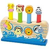 VIGA Animali Pop up in Legno, Colore Noah's Ark, 50041