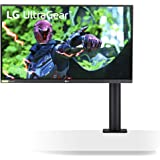 "LG 27GN88A ERGO UltraGear Gaming Monitor 27"" QuadHD Nano IPS 1ms HDR, 2560x1440, G-Sync Compatible e AMD FreeSync 144Hz, HDMI"