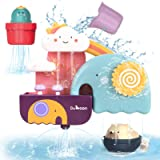 GILOBABY Baby Bath Toys Game, Shower Bath Baby Toy for 1,2,3+ Year Old Boy Girl Toddler Gift Toys Set, Kid Baby Bathtub…