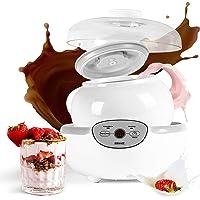 Duronic P1YM1 Large pot en céramique de 1500 ml compatible avec yaourtière YM1 et YM2 de Duronic