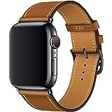 XCool Cinturino Apple Watch 38mm 40mm, Pelle Rosso Rosa Blu Arancia per Donna Uomo per iwatch Serie 4 Serie 3 Serie 2 Serie 1