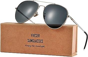 Yveser UV400 Polarisierte Sonnenbrille für Herren & Frauen Yv1816 (Ultraleichte Sonnenbrille aus Magnesium-Aluminium-Legierung; die Brillenarme können bis 180 Grad zurückgebogen werden)