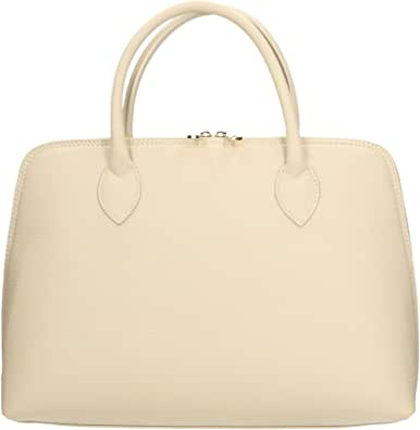 Chicca Borse Borsa a Mano Donna in Pelle Made in italy 37x27x12 Cm