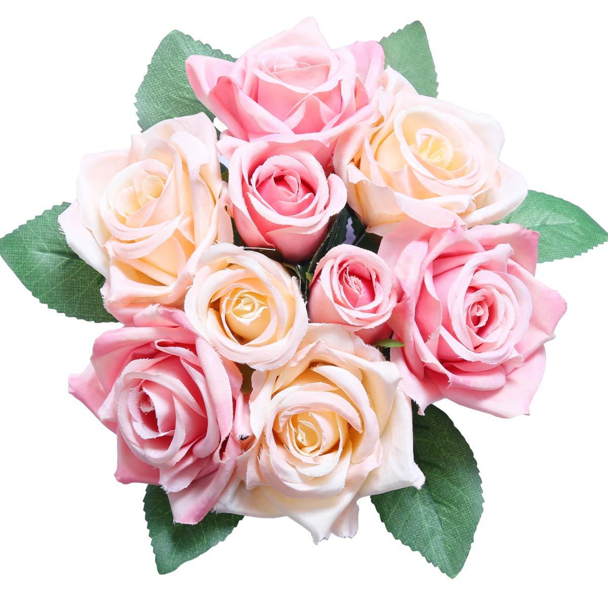 Pauwer – Flores de Lavanda Artificiales de Seda (8 Unidades)