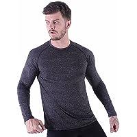 HMILES Mens Long Sleeve Running Tops Male Raglan Sleeve Fitness Sports T Shirts 50+ UV Sun Protection Light Weight…