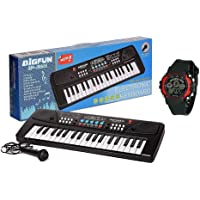 BabyBaba Free Digital Watch with 37 Key Piano for Kids and Recording Mic / Instrumental Piano