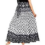 Rangun Women Skirt (SkirtL_61_White_Free Size)