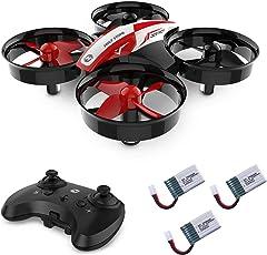 Holy Stone HS210 Mini Drohne RC Drone für Kinder und Anfänger, Mini Quadrocopter RC Helikopter Indoor mit 3 Akkus, 2.4GHz 6-Axis Gyro, Automatischer Höhehaltung, 3D 360° Wendung, Start / Landung mit einem Knopfdruck, Kopflosem Modus, Alarm bei schwacher Batterie, Notlandung usw, Geeignet für Kinder, Anfänger und Meister
