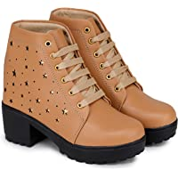 Dicy High Heel Ankle Shoes for Girls Women Casual Boot Shoes for Girls Stylish Ladies Casual Boot Shoes Or Special…