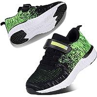 Kyopp Chaussures de Sport Running Enfant Garçon Fille Velcro Sneakers Mode Respirant Légère Sneakers 26EU-37EU