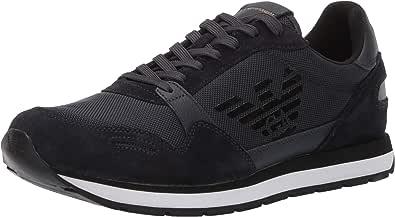 Emporio Armani Sneaker Pelle Scamosciata con Logo