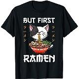 Kawaii Neko Ramen Lover Japanese Noodle Anime T-Shirt