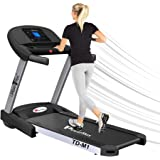 PowerMax Fitness TD-M1 (4HP Peak) 100% Pre-installed Motorized Plug And Run Treadmill with 3-year motor warranty, With Androi