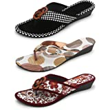 Myra Women's Combo of 3 Fashion Wedges Sandal || Casual Wedges Sandal for Women - COM1198C1N1198C2N1198C